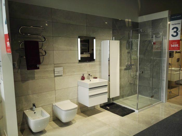Udekorowana łazienka
