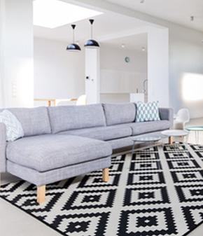 sofa narożna szara