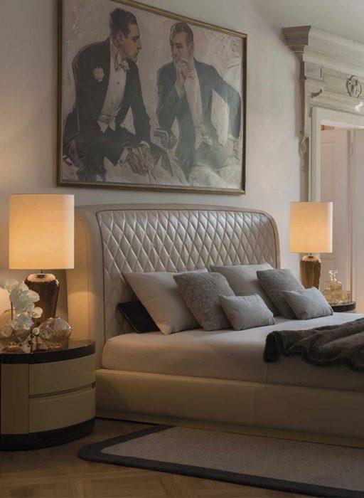 pikowane łóżko