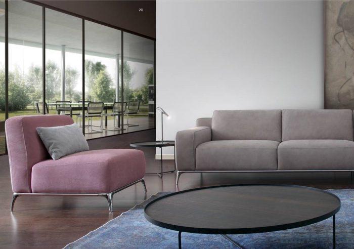 różowy fotel isofa